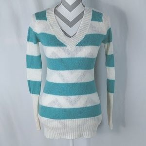XXI Striped Sweater Small Forever 21 Wool Blend